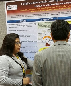 Suvarthi explaining her research.